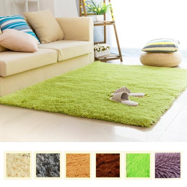 【幸福揚邑】雙11搶先購 舒壓長毛羊絲絨超軟防滑吸水地墊地毯-共六色(80x160cm)