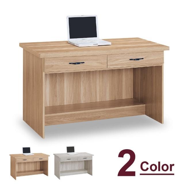 【時尚屋】原切浮雕4尺二抽書桌 5U7-455-967兩色可選(免運費 書房 書桌)