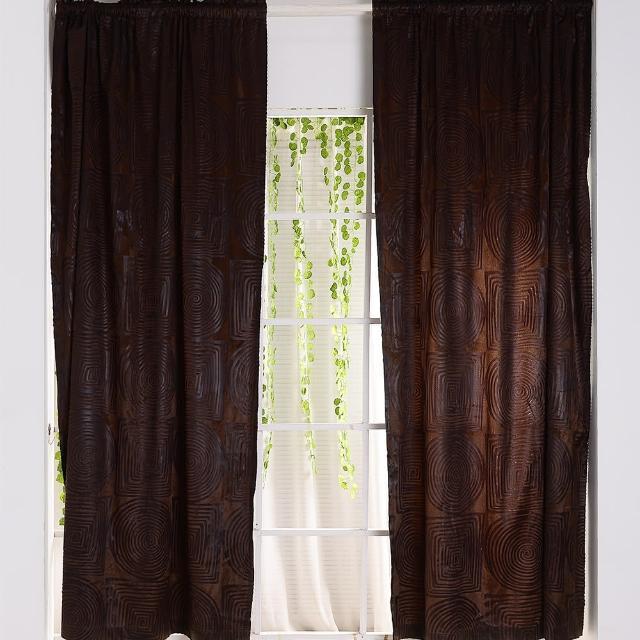 【伊美居】芬迪半腰窗簾 100x165cm-2件