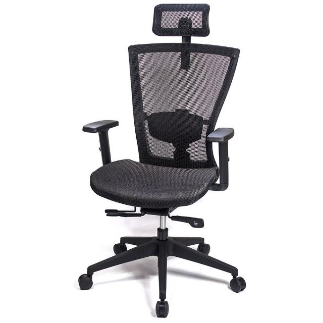 【aaronation 愛倫國度】頂級高韌性高背頭枕T把手電腦椅(AM-813)