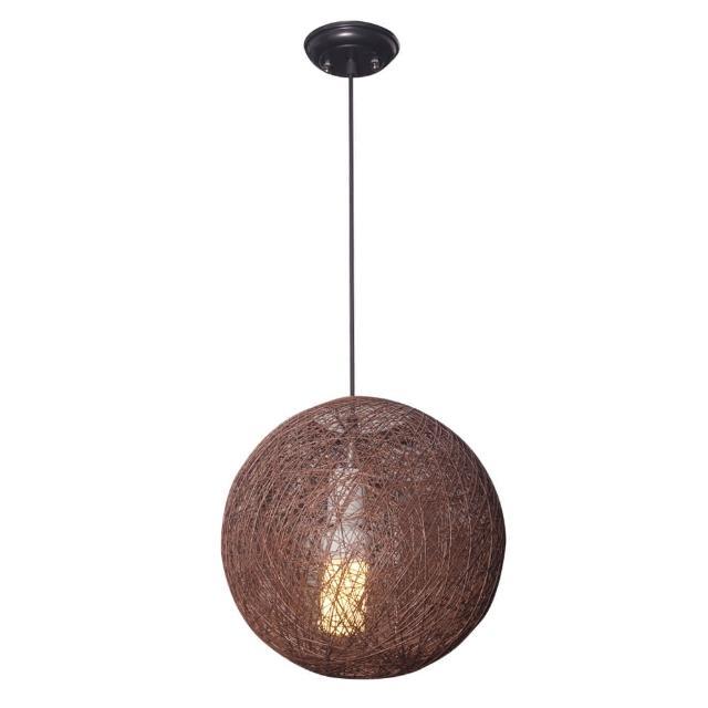 【華燈市】爵色南洋仿木單燈餐吊燈(古典鄉村風格)