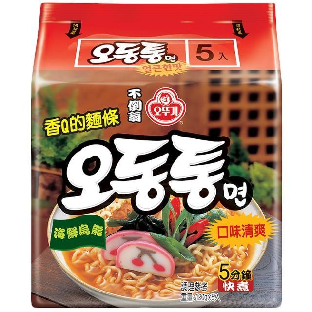 【韓國不倒翁OTTOGI】海鮮風味烏龍拉麵(120g-5)