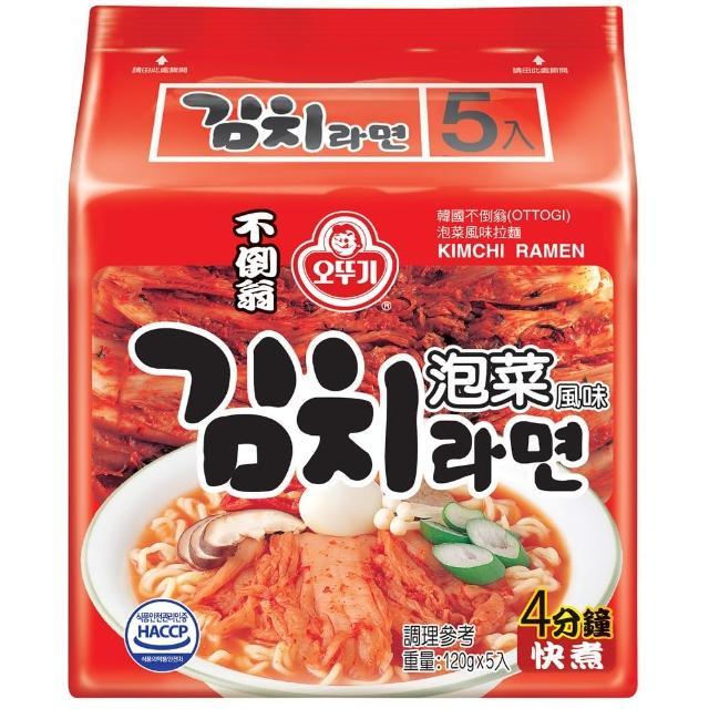 【韓國不倒翁OTTOGI】泡菜風味拉麵(120g-5)