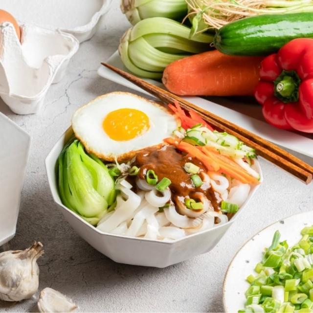 【栗園米食】花生麻醬粄條-5入-袋(240g±5%)