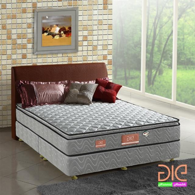 【aie享愛名床】竹碳+3M防潑水+記憶膠真三線彈簧床墊-雙人加大6尺(經濟型)