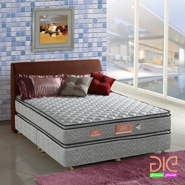 【aie享愛名床】竹碳+3M防潑水+記憶膠真四線彈簧床墊-雙人加大6尺(經濟型)