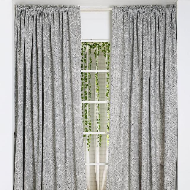 【伊美居】巴洛克緹花落地窗簾 130x230cm-2件
