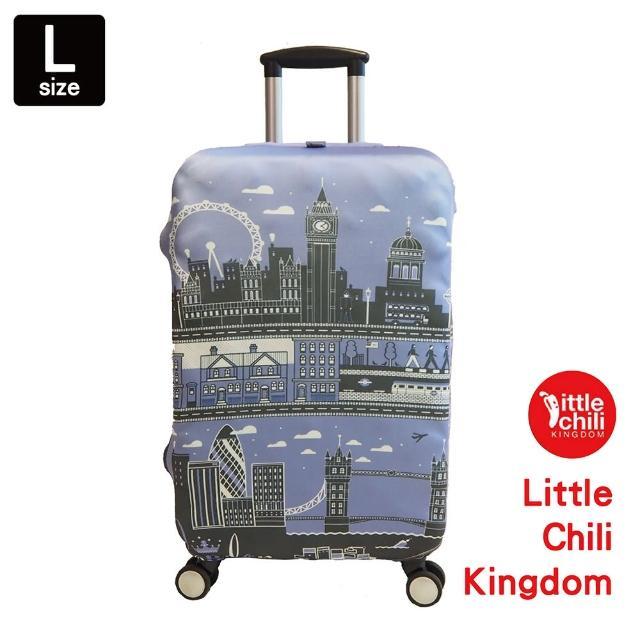 【LittleChili】行李箱套534(英國倫敦藍L)
