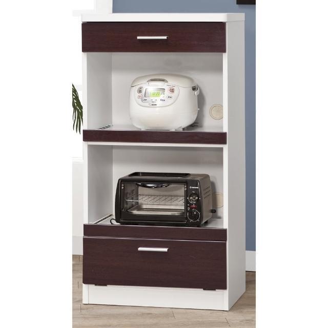 【CHEERFUL】鐵刀木色鏡面板廚房收納櫃-60公分寬(廚房櫃-置物櫃-E1等級板材)