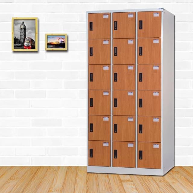 【時尚屋】納爾生多用途塑鋼製18格置物櫃 RU6-DF-E5018FF免運費(置物櫃)