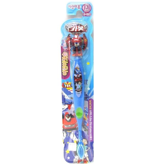 【韓國Atex英佑】變形金剛卡通兒童立體牙刷第3階段6-12歲-紅