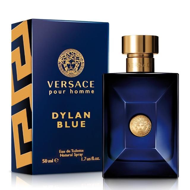 【Versace 凡賽斯】狄倫 正藍男性淡香水-50ml