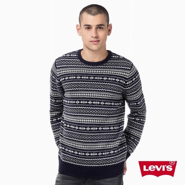 【Levis】圓領針織毛衣 / 幾何織花 / 滿版圖樣(2754900030)