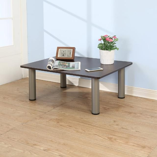 【BuyJM】低甲醛型防潑水穩重茶几桌-和室桌80-60公分(胡桃色)