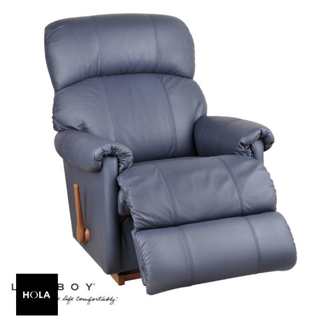 【HOLA】La-Z-Boy 搖椅式休閒椅 10T559 半牛皮 藍色