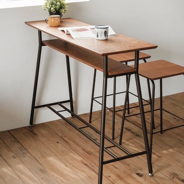 【樂活主義】簡約典雅木紋120cm吧檯桌-吧檯-吧台桌-餐桌
