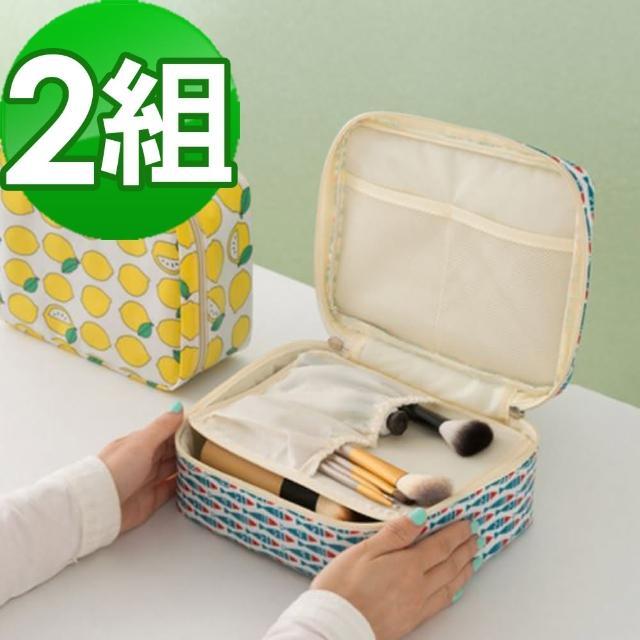 【JIDA】可愛繽紛加厚大容量防潑水盥洗化妝包-4色(二入組)