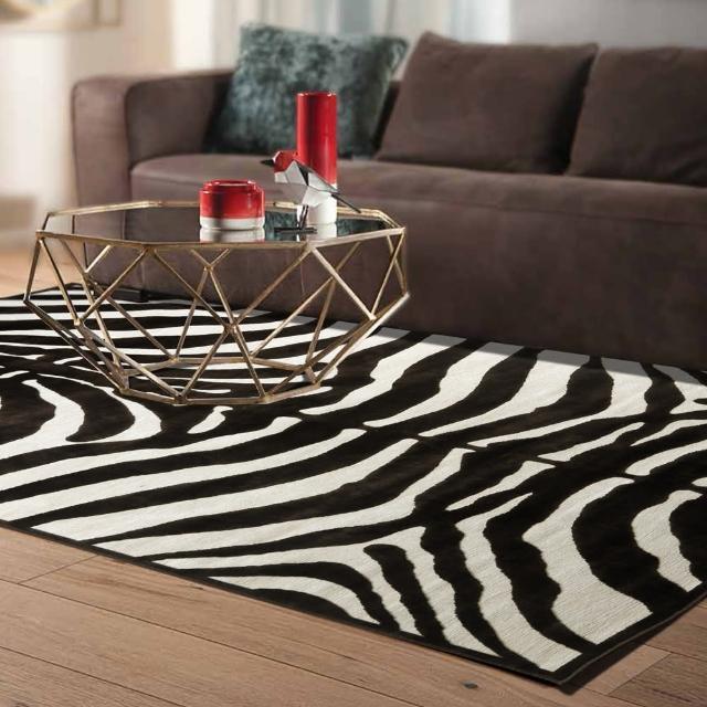 【范登伯格】卡斯☆頂級立體雕花絲質地毯-斑馬紋(140x200cm)