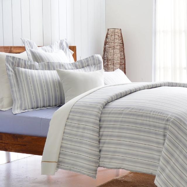 【Cozy inn】生活-灰 300織精梳棉四件式兩用被床包組(雙人)