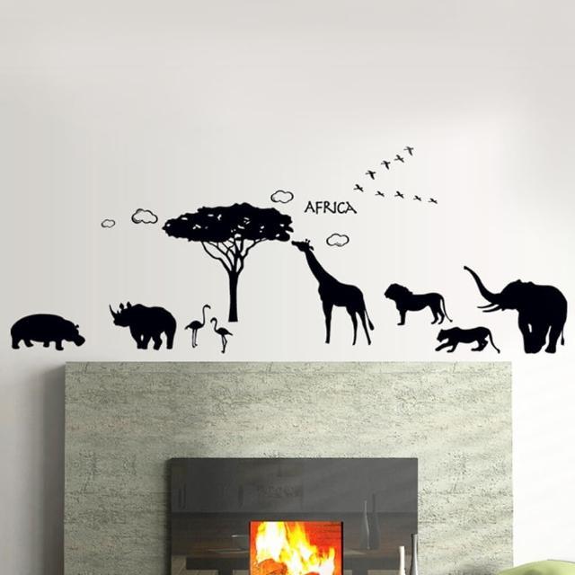 【半島良品】DIY無痕創意牆貼壁貼-動物樂園_AY9186(無痕壁貼 牆貼 壁貼紙 創意璧貼)