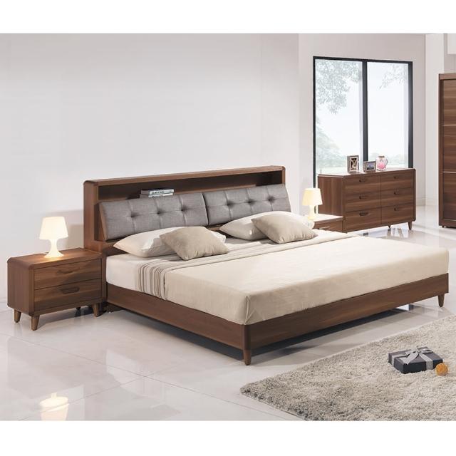 【時尚屋】北歐6尺床箱型加大雙人床-不含床頭櫃-床墊 MT7-124-1+124+2(免運費 免組裝 臥室系列)