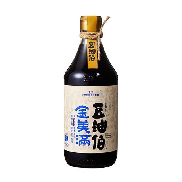 【豆油伯】金美滿醬油-無添加糖500ml(沾-拌 100%純釀造 滷-紅燒-醃漬)