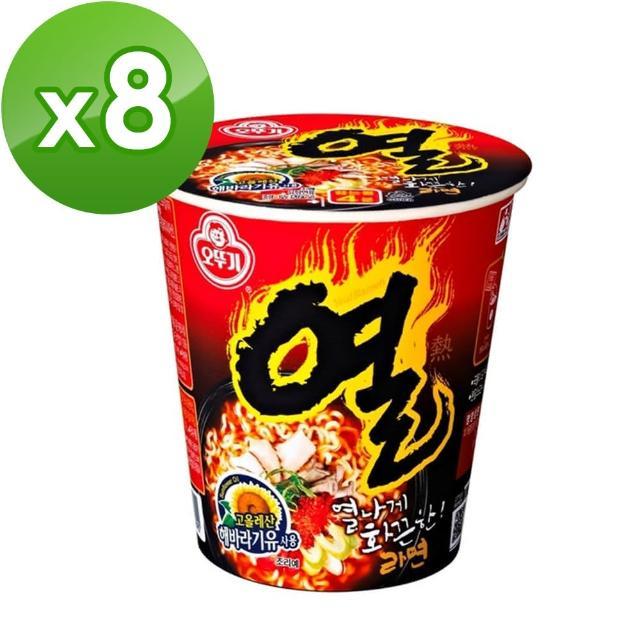 【韓國不倒翁OTTOGI】辛辣杯麵(62g)x8入