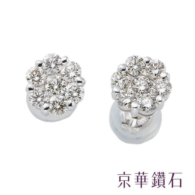 【京華鑽石】蕾絲花系列-綻放 0.5克拉 18K白金