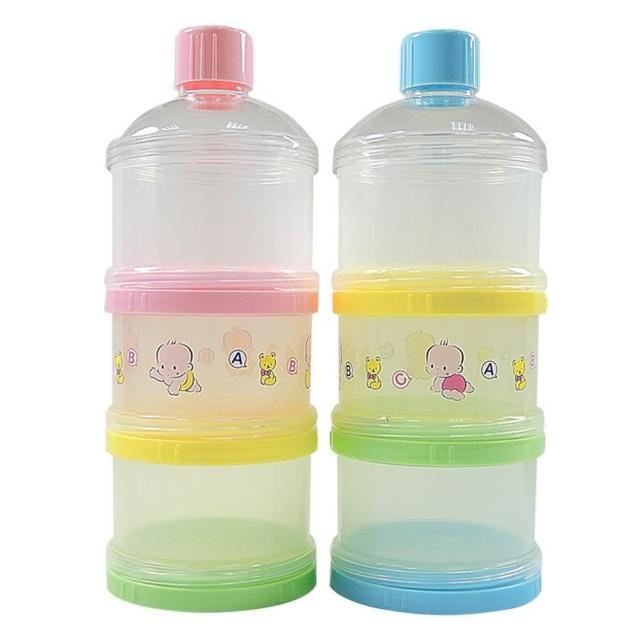 【愛儂寶貝】三層保潔蓋奶粉盒