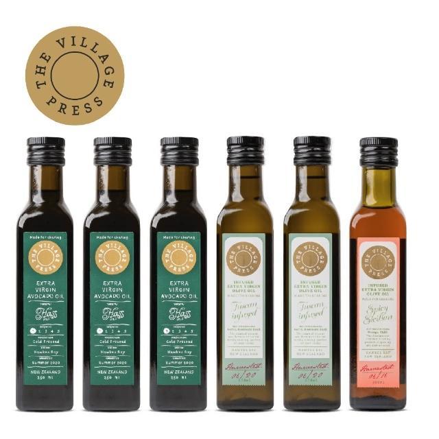 【壽滿趣- 紐西蘭廚神系列】黃金酪梨油x3-托斯卡尼x2-香辣西西里風味橄欖油(250ml六瓶量販裝)