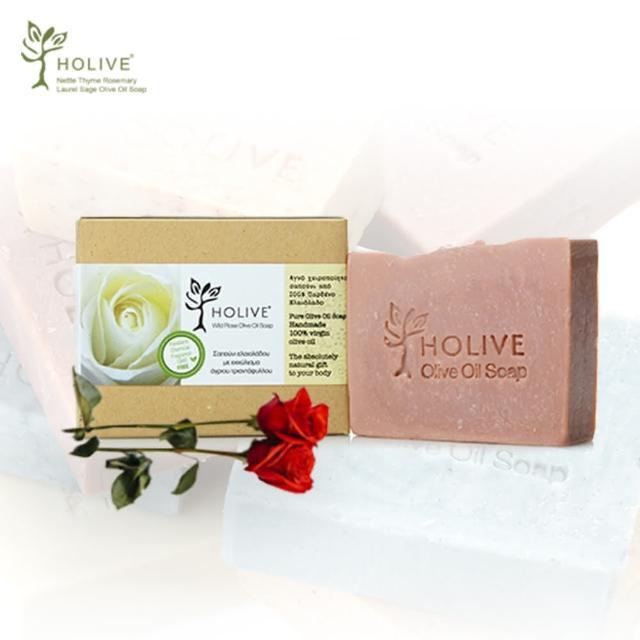 【希臘神話】天然橄欖油手作皂-玫瑰(120g-1入)