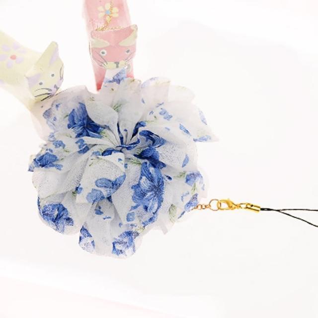 【Lady c.c.】春漾輕襲浪漫花園手機吊飾(藍)