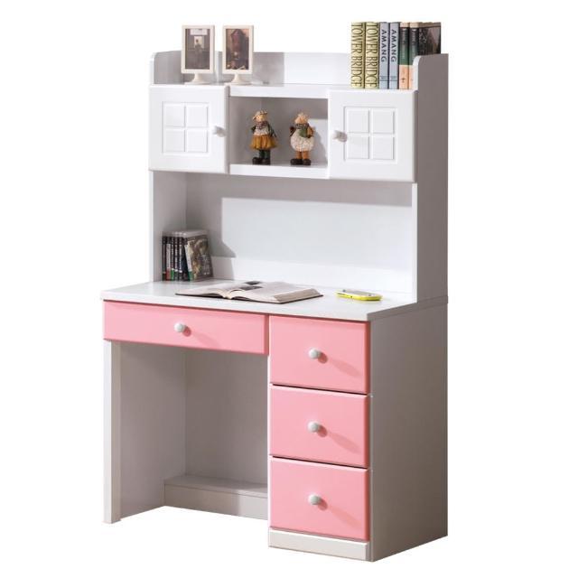 【顛覆設計】童話3尺粉紅雙色書桌組(上+下)