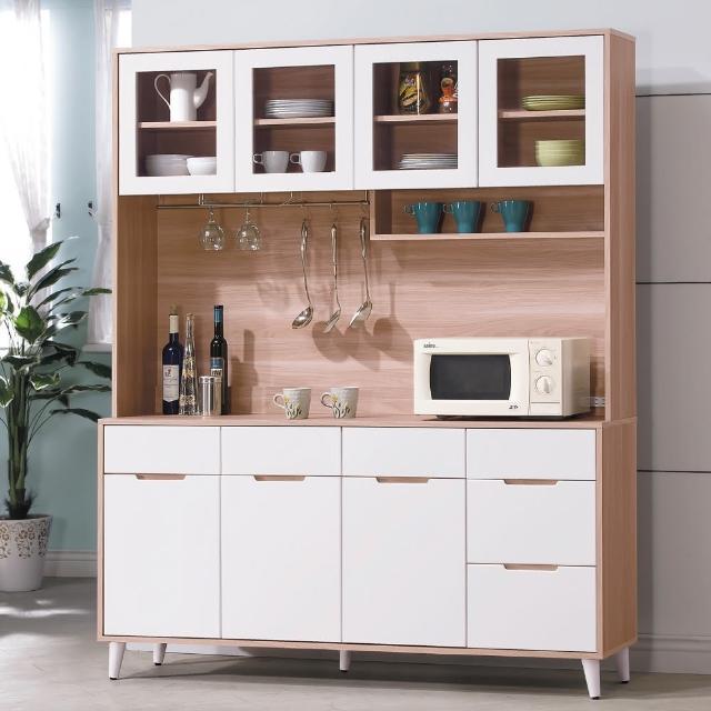 【AS】莉絲麗北歐風5.3尺餐櫃-40x161x200cm