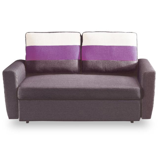 【時尚屋】莫妮卡雙人座深咖啡色布沙發床 MT7-340-4(免組裝 免運費 沙發)