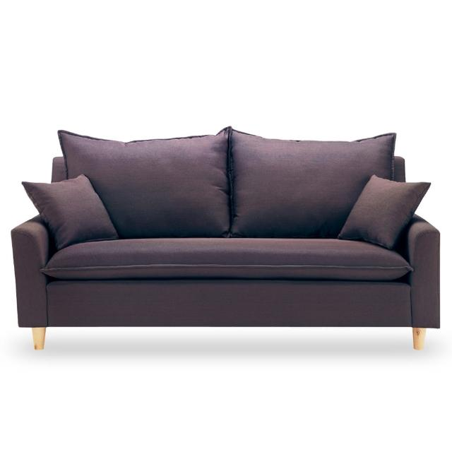 【時尚屋】奧蘿拉三人座咖啡色沙發 MT7-321-4(免組裝 免運費 沙發)