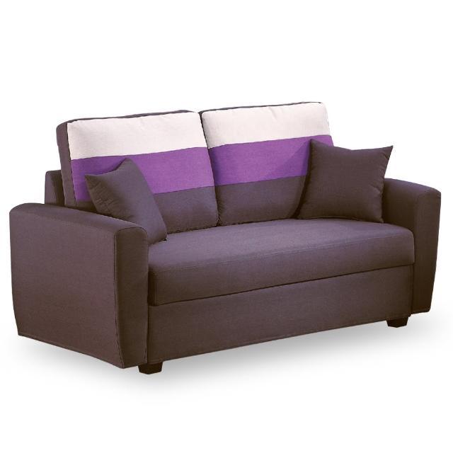 【時尚屋】艾爾瑪雙人座深咖色儲物布沙發 MT7-326-8(免組裝 免運費 沙發)