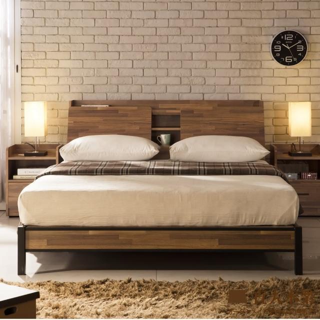 【直人木業】Industrial 工業風立式6尺收納床組