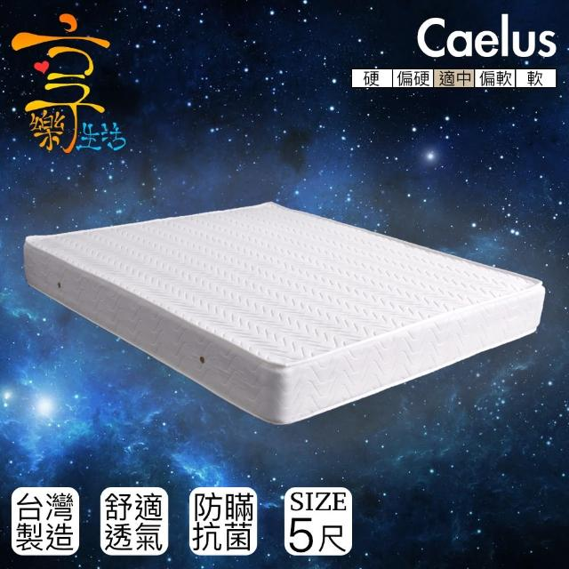 【享樂生活】凱盧斯防瞞抗菌獨立筒床墊(雙人5X6.2尺)