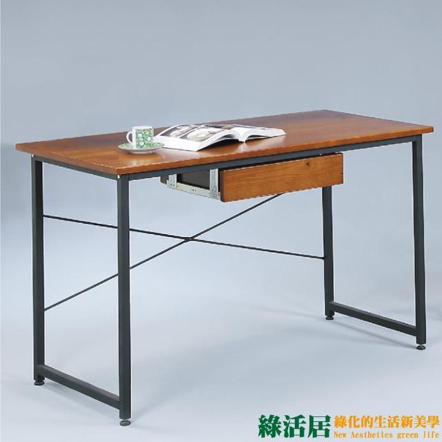 【綠活居】薛曼    簡約風3尺實木書桌-電腦桌