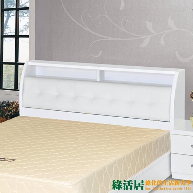 【綠活居】比格斯  時尚5尺皮革雙人床頭箱(三色可選)