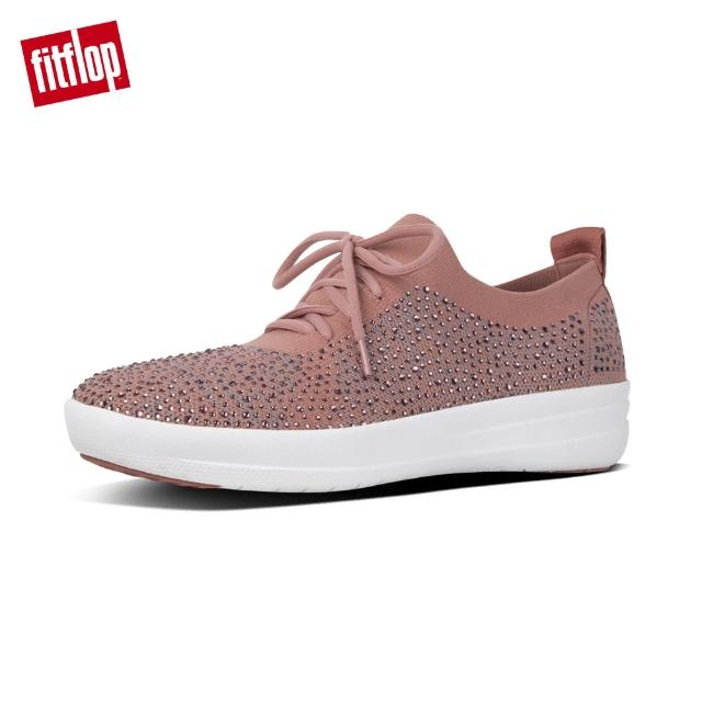 【FitFlop】F-SPORTY UBERKNIT CRYSTAL SNEAKERS(灰粉/淺灰)