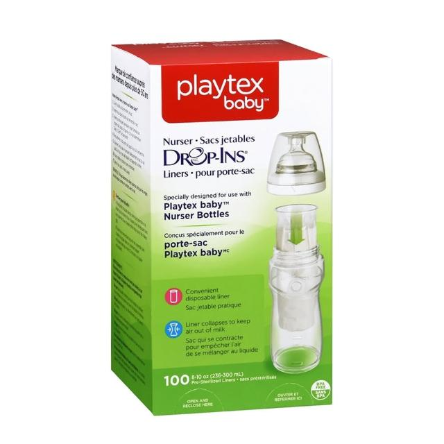 【美國Playtex】拋棄式替換袋100入 237ML-296ML/8oz-10oz(Made In USA)