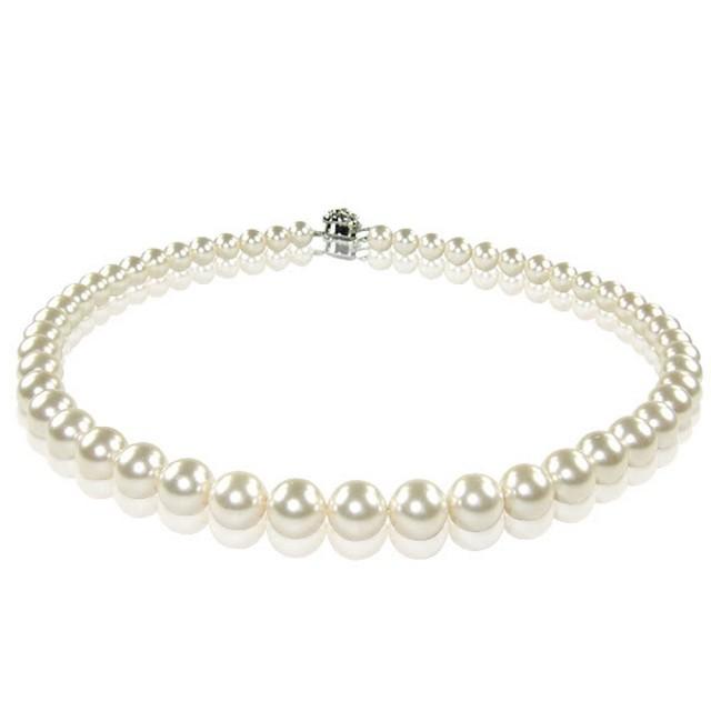 【小樂珠寶】3A南洋深海貝珍珠項鍊(白或粉色隨機出貨8-10mm熱賣萬條了)/