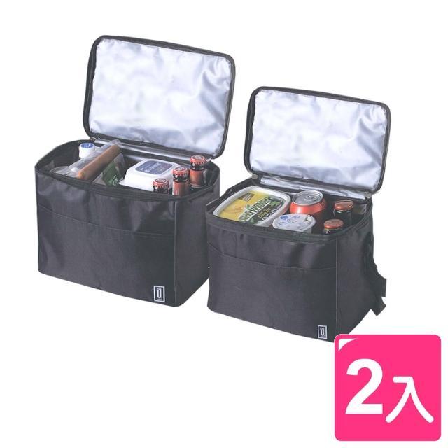 【真心良品】Udlife酷黑摺疊便利組保溫保冷袋(2入)/