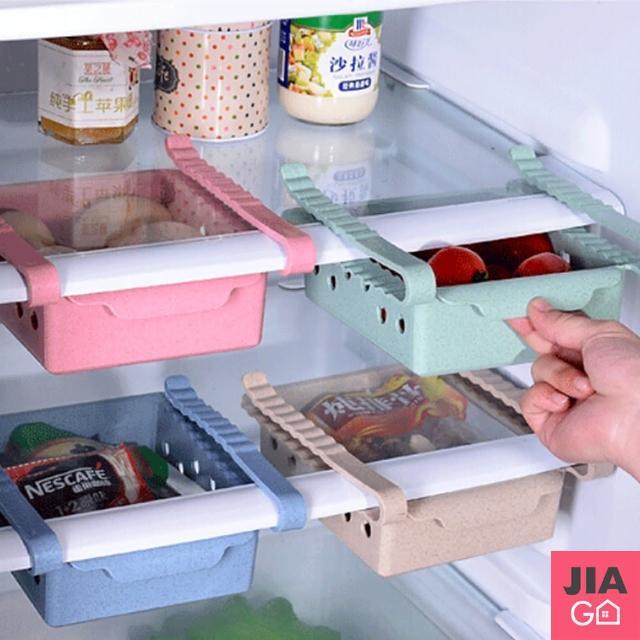 【JIAGO】冰箱抽屜式收納盒/