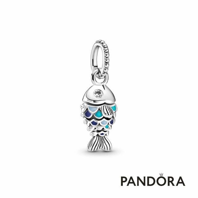 【Pandora官方直營】藍鱗游魚吊飾/