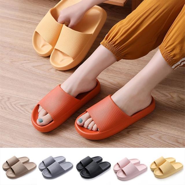 【西格傢飾】EVA加厚靜音防滑厚底拖鞋(6色/柔軟/舒適/止滑)/