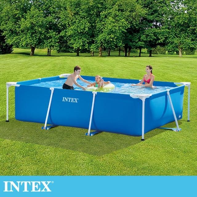【INTEX】簡易裝長方型框架游泳池/戲沙池300x200x75cm_3834L(28272)/