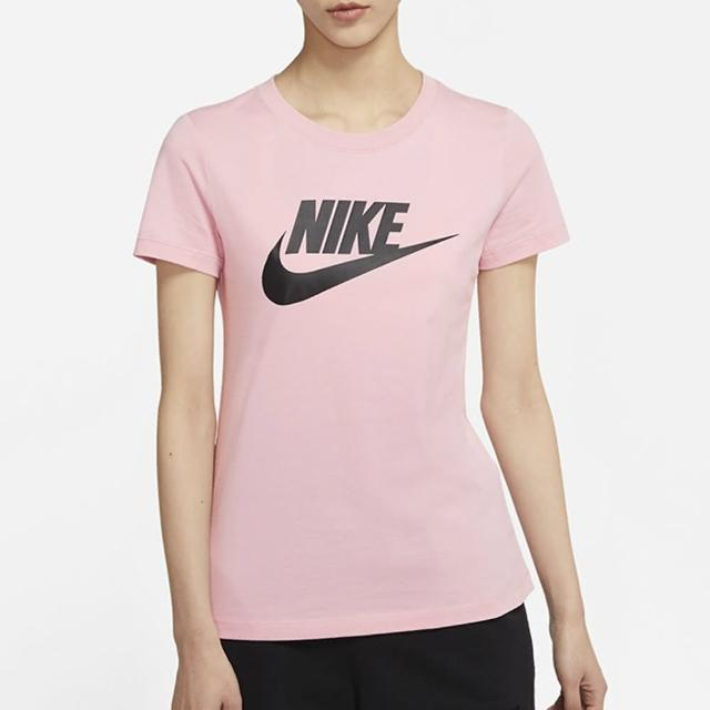 【NIKE 耐吉】上衣 女款 短袖上衣 運動 AS W NSW TEE ESSNTL ICON FUTUR 粉 BV6170-632
